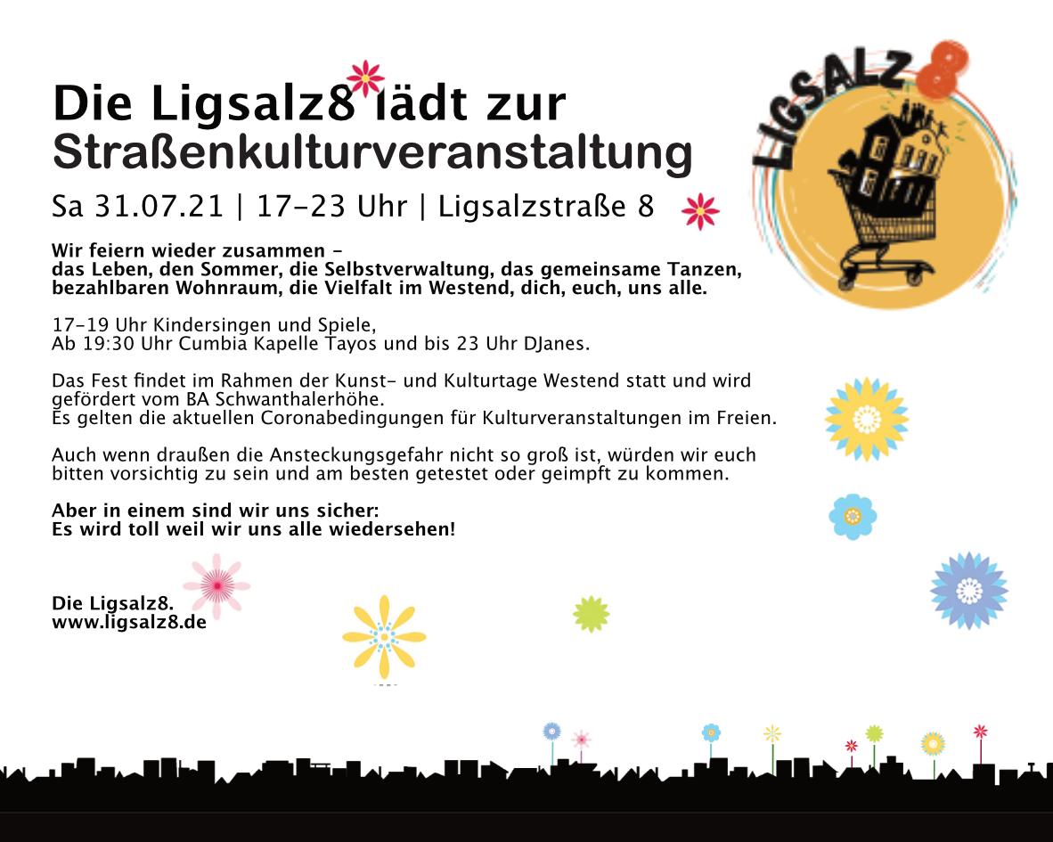 Straßenkulturveranstaltung am 31.07.21 von 17 - 23 Uhr