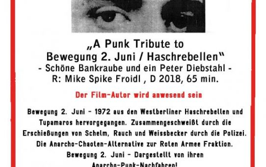 Film: A Punk Tribute to Bewegung 2. Juni/Haschrebellen