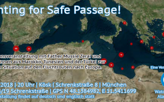 "Alarmphone Veranstaltung am 17.03. ""Fighting for Safe Passage!"" im Kösk"